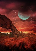 Rock Star Art Art - Alien Planet, Artwork by Victor Habbick Visions