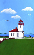 Pacific Coast And Western Artwork - Alki Point Lighthouse by Frederic Kohli