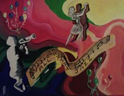 Jazz Painting Originals - All That Jazz by Burma Brown