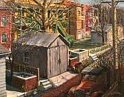 Backyards Posters - Alley with Ashpits Poster by Edward Farber