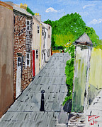 Alleyway Paintings - Alleyway by Swabby Soileau