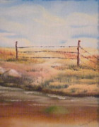 Wyoming Paintings - Alone by Terry Honstead