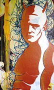 Industrial Mixed Media Prints - Alter Ego Print by Iain Barnes