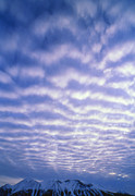 Canadian Scenery Prints - Altocumulus Clouds Print by Alan Sirulnikoff