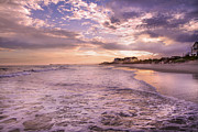 Topsail Island Prints - Always Remember the Sunset Print by Betsy A Cutler East Coast Barrier Islands