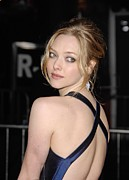 Updo Photo Posters - Amanda Seyfried At Arrivals For Dear Poster by Everett