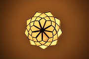 Ambassador Digital Art Prints - Ambassador Hotel Light Fixture Print by Geoff Strehlow