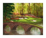 Golfer Paintings - Amen Corner by Catherine Marchand