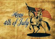 4th Of July Posters - American cavalry soldier Poster by Aloysius Patrimonio