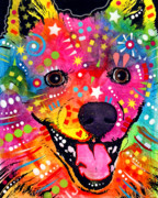 """pop Art"" Mixed Media Posters - American Eskimo Dog Poster by Dean Russo"