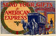 Drawn Framed Prints - American Express Shipping Framed Print by Granger