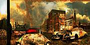 Urban Digital Art Originals - American Landscape by Jeff Burgess