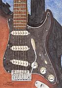 Guitar Painting Originals - American Standard by Ken Powers