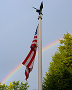 Flag Pole Digital Art - Americas Promise by Liz Evensen