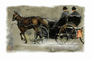 Horse And Buggy Digital Art Posters - Amish Country Poster by Bob Salo