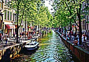 Amsterdam Digital Art - Amsterdam by Terry Collett