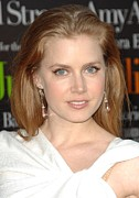 Drop Earrings Metal Prints - Amy Adams At Arrivals For Julie & Julia Metal Print by Everett
