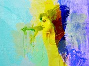 Watercolor  Paintings - Amy Winehouse by Irina  March