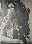 B Pastels Posters - Amy Winehouse Poster by Scott Shisler