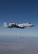 A-bomb Framed Prints - An A-10c Thunderbolt Releases A Gbu-12 Framed Print by HIGH-G Productions