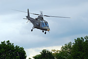 Component Photo Metal Prints - An Agusta A109 Helicopter Metal Print by Luc De Jaeger