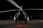 Taxiway Prints - An Ah-64d Apache Longbow Print by Terry Moore