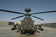 Helicopter Art - An Apache Helicopter At Camp Bastion by Andrew Chittock