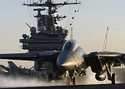 Carrier Prints - An F-14b Tomcat  Launches Print by Stocktrek Images