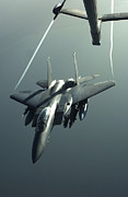 Mechanism Art - An F-15e Strike Eagle Flies Over Iraq by Stocktrek Images