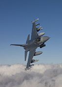 Us Air Force Prints - An F-16 Maneuvers During A Training Print by HIGH-G Productions
