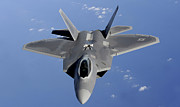 Stealth Prints - An F-22 Raptor Moves Into Position Print by Stocktrek Images