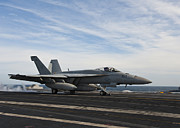 Enterprise Metal Prints - An Fa-18f Super Hornet Takes Metal Print by Stocktrek Images