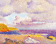 Sunbathing Metal Prints - An Incoming Storm Metal Print by Henri-Edmond Cross