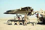 Operation Desert Storm Framed Prints - An Mim-23b Hawk Surface-to-air Missile Framed Print by Stocktrek Images