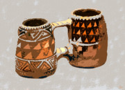 Mesa Verde Posters - Anasazi Double Mug Poster by David Lee Thompson