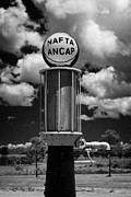 Uruguay Posters - ancap nafta vintage petrol pump on a farm in Colonia Del Sacramento Uruguay South America Poster by Joe Fox