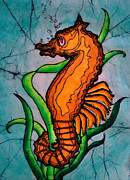 Seahorses Prints - Anchored Print by Shari Carlson