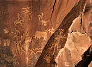 Anasazi Posters - Ancient Indian Petroglyphs Poster by Gary Whitton
