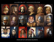 Greek Americans Framed Prints - Ancient warriors Framed Print by Arturas Slapsys