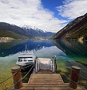 Anderson Framed Prints - Anderson lake Haven Framed Print by Pierre Leclerc