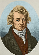Electric Current Posters - Andre Marie Ampère, French Physicist Poster by Science Source