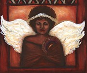 African American Artist Pastels Framed Prints - Angel Framed Print by Alga Washington