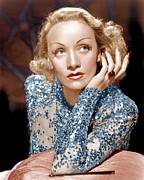 Sequins Framed Prints - Angel, Marlene Dietrich, 1937 Framed Print by Everett