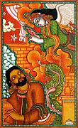 Kerala Paintings - Angel visits Joseph by Satheesan A K