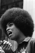 Black Panther Party Framed Prints - Angela Davis (1944- ) Framed Print by Granger