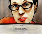 Nerd Painting Framed Prints - Angela Framed Print by Terry Montimore