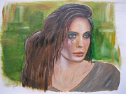 Portrait Paintings - Angelina by Joanne Lawrence