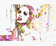Famous Actor Prints - Angelina Jolie 2 Print by Irina  March