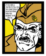 Boot Camp Digital Art Posters - Angry Navy Chief Lied To Poster by Suzanne  Frie