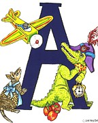 Apron Originals - Animal Alphabet A-3 by Sherry Dole